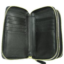 Bvlgari Black Leather Zip Around Wallet
