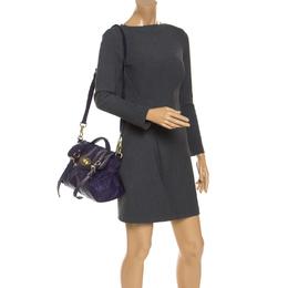 Mulberry Purple Leather Alexa Shoulder Bag 240578