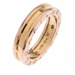 Bvlgari B.Zero 1 18K Rose Gold One Band Ring Size 51 243923