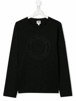 Karl Lagerfeld Kids футболка с логотипом в тон Z25208
