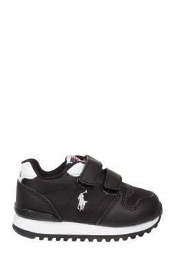 Черные кроссовки на липучках Ralph Lauren Kids 1252164920