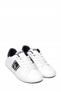 Белые кеды с логотипом Ralph Lauren Kids 1252164908