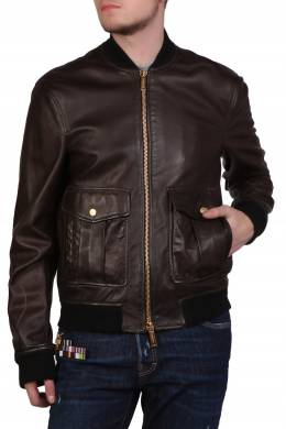 Коричневая куртка-пилот Dsquared2 1706165045