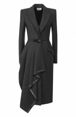 Шерстяное пальто Alexander McQueen 594017/QJAAN