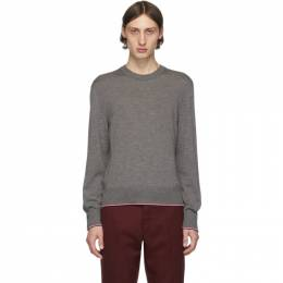 Thom Browne Grey Cashmere Classic Crewneck Pullover MKA257A-00011