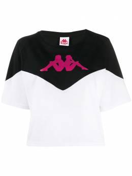 Kappa укороченная футболка с логотипом 304RNI0