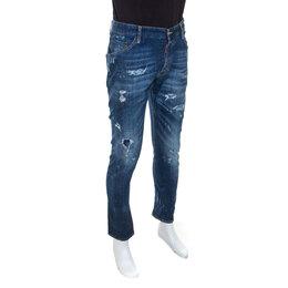 Dsquared2 Blue Distressed Denim Classic Kenny Twist Jeans L 243348