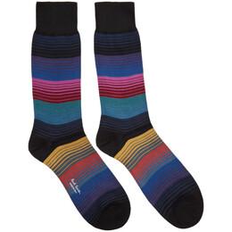 Paul Smith Multicolor Lenzo Stripe Socks 201260M22012201GB