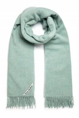 Теплый шарф мятного цвета Acne Studios 876165631