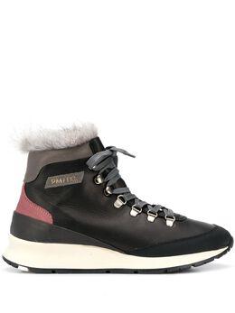 Philippe Model ботинки на шнуровке с искусственным мехом KKHDV010