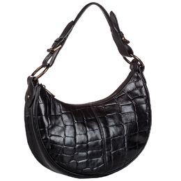 Mulberry Black Embossed Leather Shoulder Bag 242565