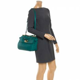 Mulberry Green Leather Top Handle Bag 243172