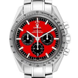 Omega Red/Black Stainless Steel Speedmaster Schumacher 3506.61.00 Men's Wristwatch 42 MM 245501