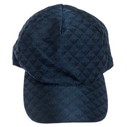 Emporio Armani Blue Pattern Logo Baseball Cap 240587