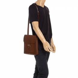 Mulberry Tan Leather Messenger Bag 240641