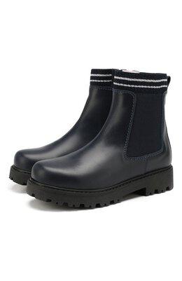 Кожаные ботинки с меховой отделкой Lanvin 62191/36-41