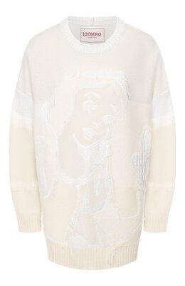 Пуловер из смеси шерсти и хлопка Iceberg 19I I2S0/A010/7077