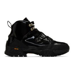 1017 Alyx 9Sm Black Patent Hiking Boots 192776F12700104GB