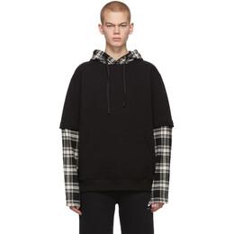1017 Alyx 9Sm Black Flannel Fleece Hoodie 192776M20200505GB