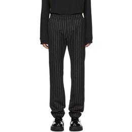 1017 Alyx 9Sm Black Pinstripe Elasticized Trousers 192776M19101003GB