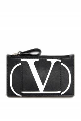 Черная визитница с логотипом Valentino 210165469
