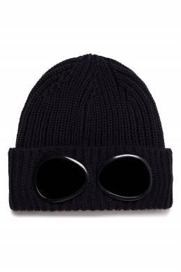 Темно-синяя шапка с очками C.P. Company 1929166240