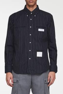 Рубашка с отделкой в полоску Thom Browne 2875165530