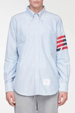 Светло-голубая рубашка с контрастной отделкой Thom Browne 2875165531
