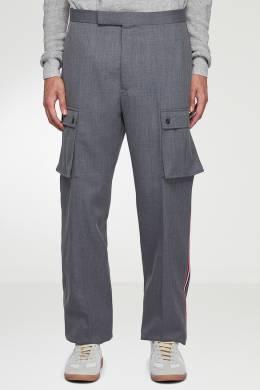 Серые брюки с накладными карманами Thom Browne 2875165532