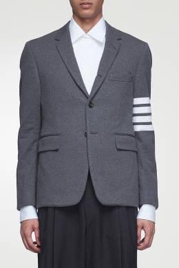Серый пиджак с контрастной отделкой Thom Browne 2875165533