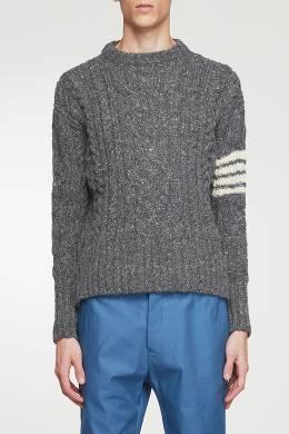 Серый свитер с контрастной отделкой Thom Browne 2875165525