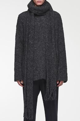 Темно-серый джемпер с шарфом Valentino 210165565