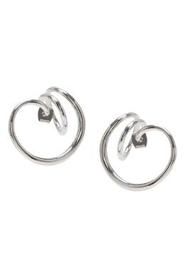 Серебристые серьги витой формы Lisa Smith 1168166055