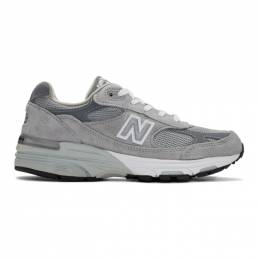 New Balance Grey 993 Sneakers 201402F12804002GB