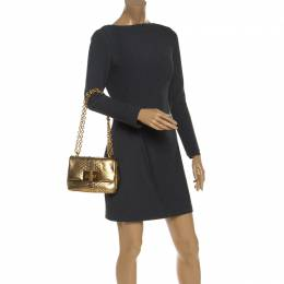 Tom Ford Gold Python Chain Shoulder Bag 244073
