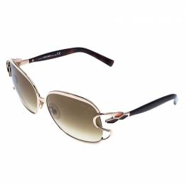 Roberto Cavalli Brown 578S Gradient Mimosa Square Sunglasses 245199