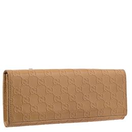 Gucci Beige Guccissima Patent Leather Small Broadway Clutch 244093