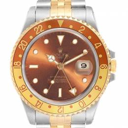 Rolex Bronze 18K Yellow Gold and Stainless Steel GMT Master II 16713 Men's Wristwatch 40MM 245601