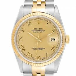 Rolex Ivory Pyramid 18K Yellow Gold Stainless Steel Oyester Perpetual 16233 Men's Wristwatch 36 MM 245551