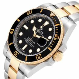 Rolex Black 18K Yellow Gold and Stainless Steel Submariner 116613 Men's Wristwatch 40MM 245629