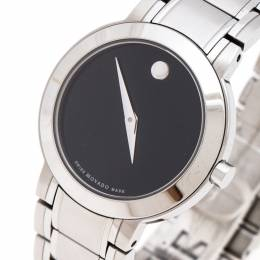 Movado Black Stainless Steel M0.08.03.014.1031.1033.4/002 Women's Wristwatch 27MM 244374