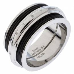 Montblanc Men's Contemporary Collection Black PVD Steel Sliding Ring Size 64 245181