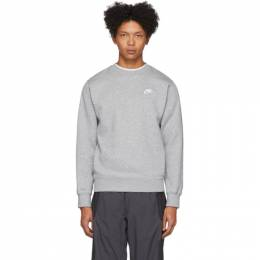 Nike Grey Sportswear Club Sweatshirt BV2662