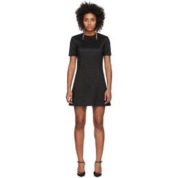 Saint Laurent Black Silk A-Line Dress 192418F05200501GB