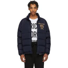 Moschino Blue Logo Puffer Jacket 0626 5218
