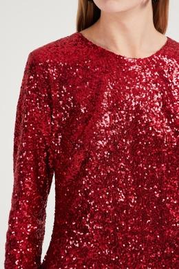 Красное платье мини с пайетками P.a.r.o.s.h. 393166137