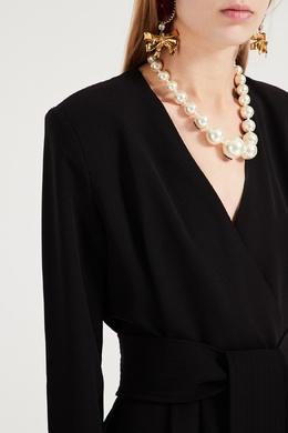Черное платье прямого кроя P.a.r.o.s.h. 393166281