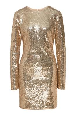 Золотистое платье с пайетками P.a.r.o.s.h. 393166130