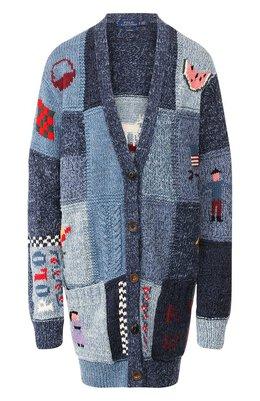 Кардиган из хлопка и шерсти Polo Ralph Lauren 211752629