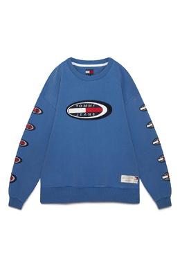 Синий свитшот с логотипами Tommy Jeans 2726165920
